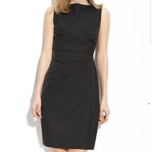 Theory Little Black Dress With Side Ruche